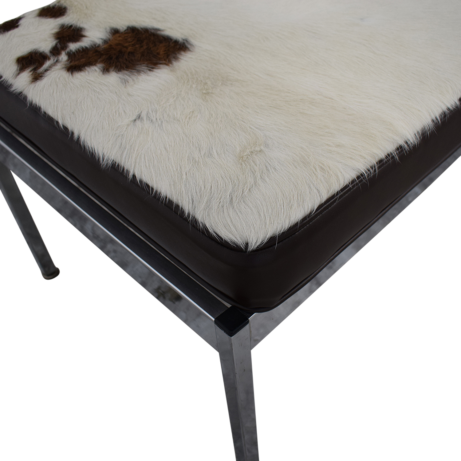 Vintage Cowhide Bench Benches