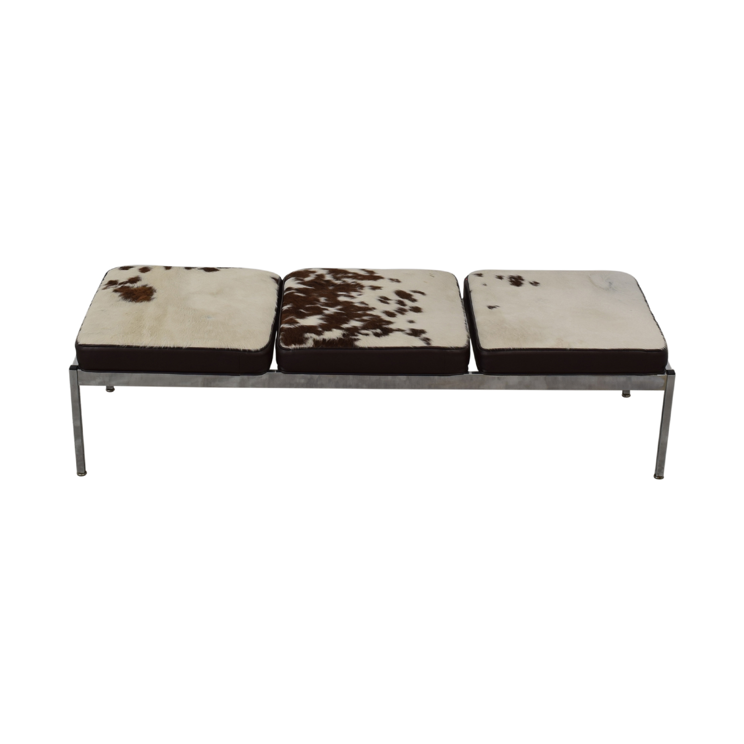 Vintage Cowhide Bench nj