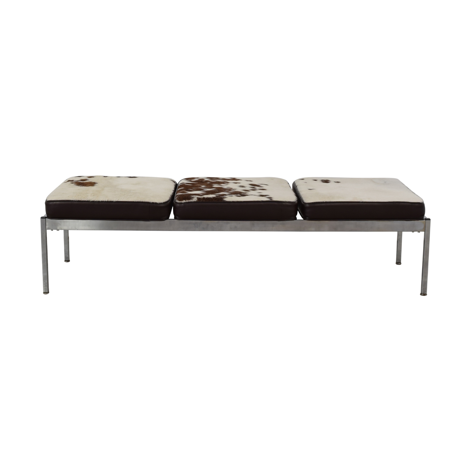 buy Vintage Cowhide Bench  Benches
