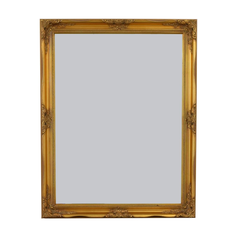 Large Gold Framed Mirror Gold