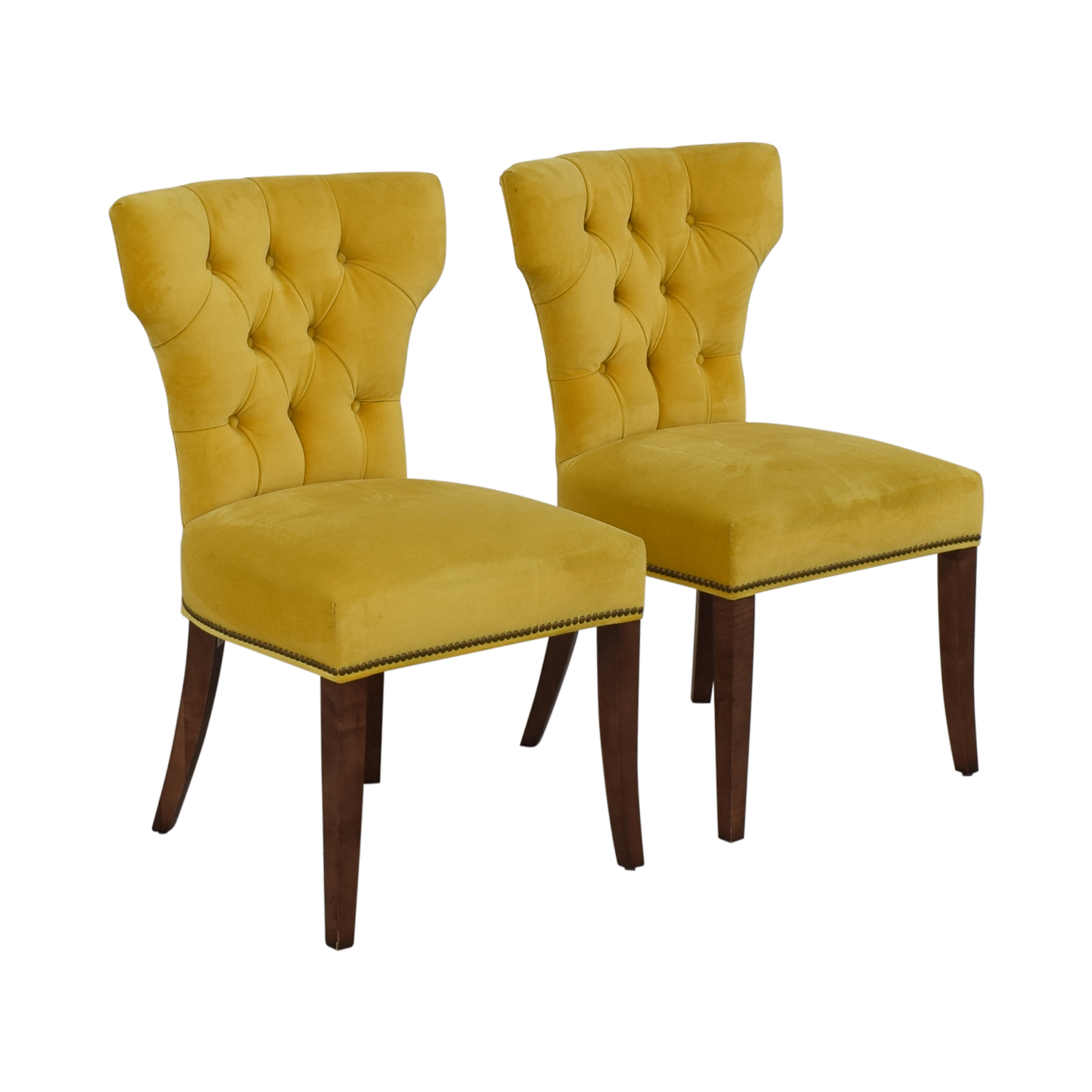 Lillian August Lillian August Farmhouse Yellow Kitchen Chairs for sale