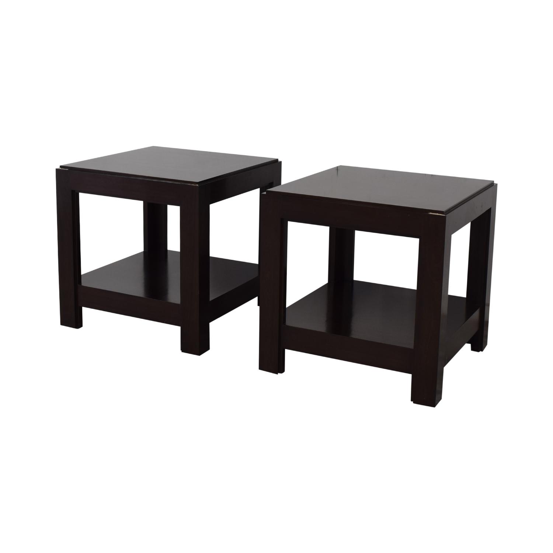 Custom Side Tables dark brown