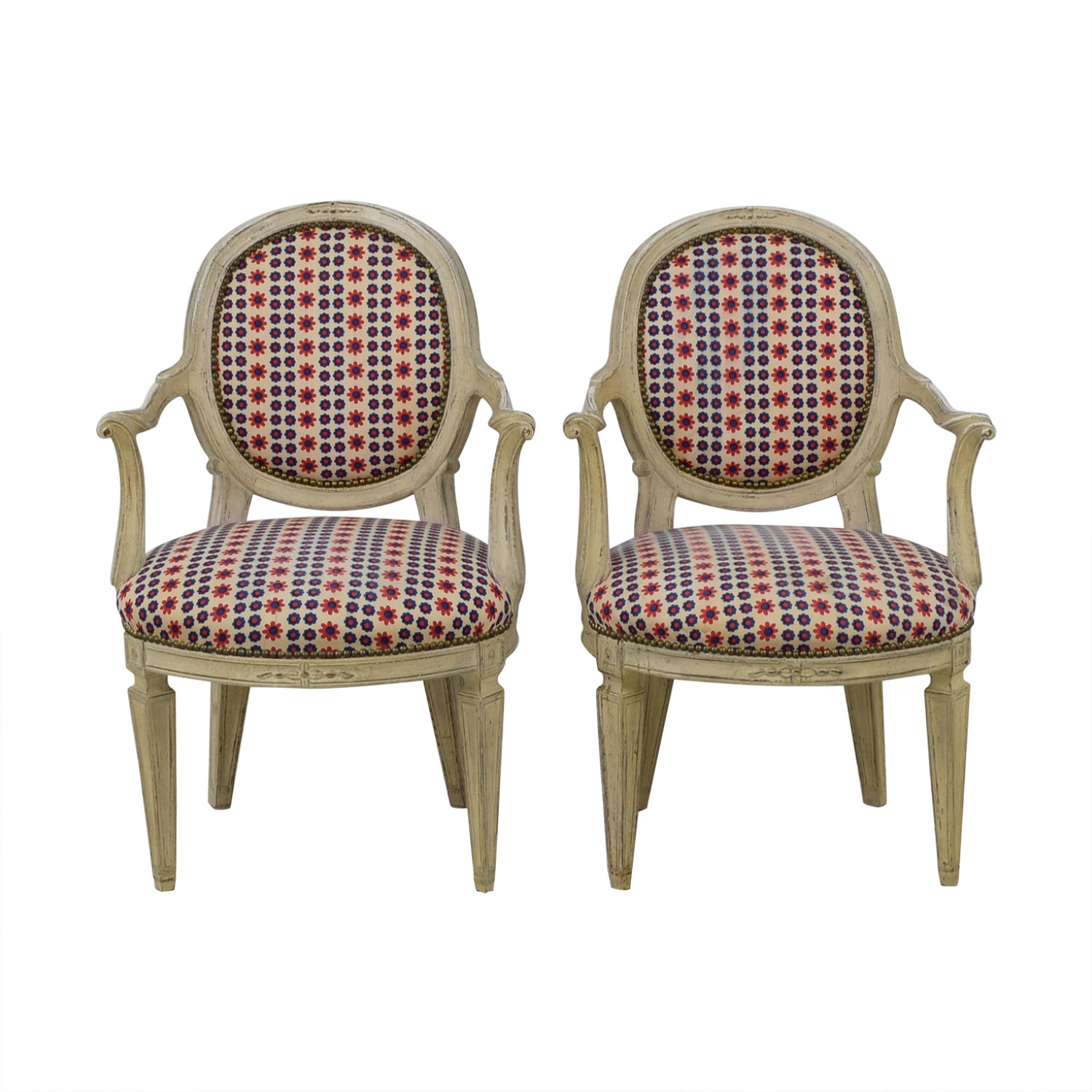 French Upholstered Chairs dimensions