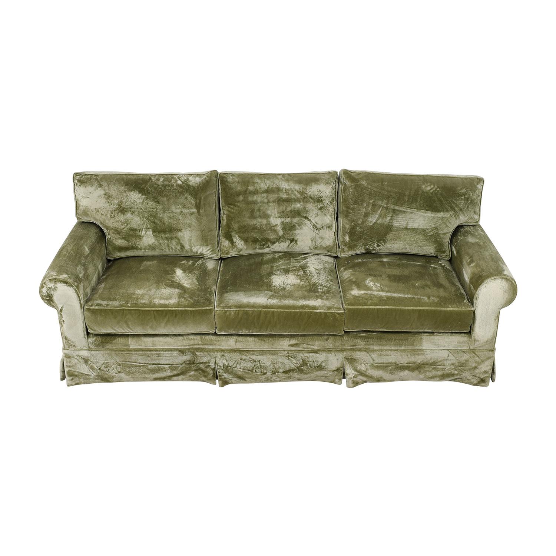 Attirant 81% OFF   Green Velvet Sofa / Sofas