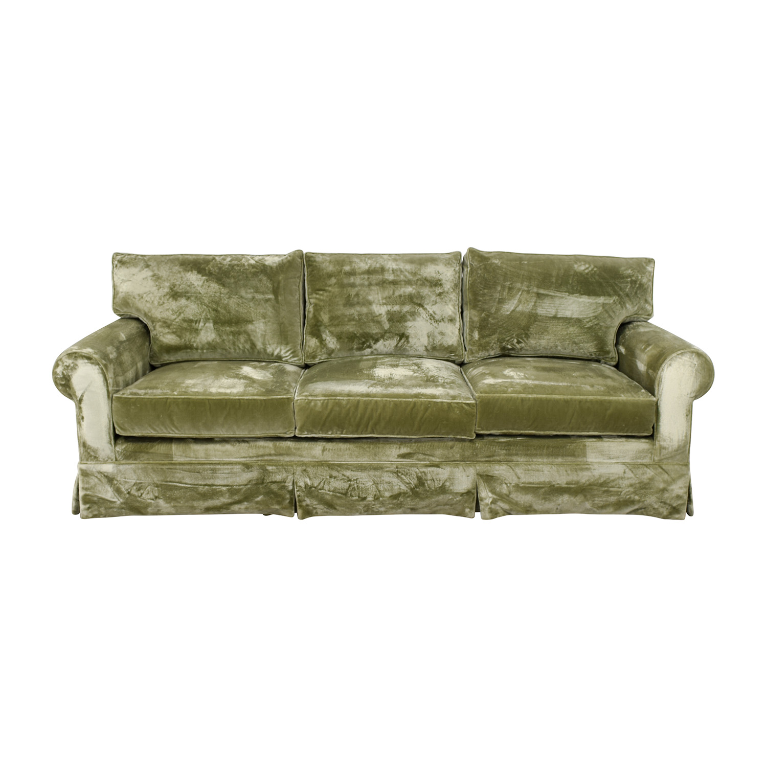 81% OFF - Green Velvet Sofa / Sofas