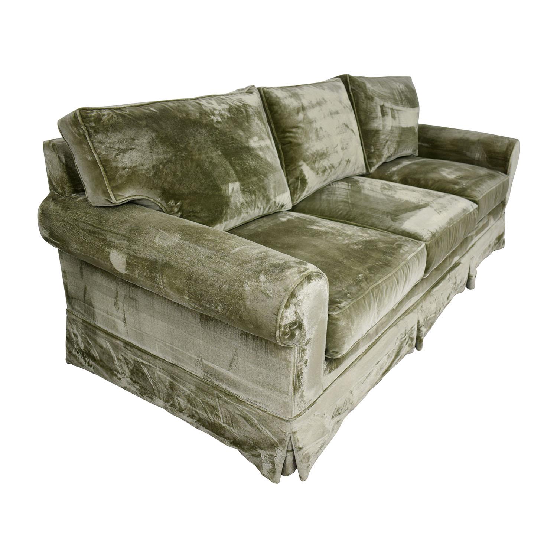 Miraculous 81 Off Green Velvet Sofa Sofas Machost Co Dining Chair Design Ideas Machostcouk