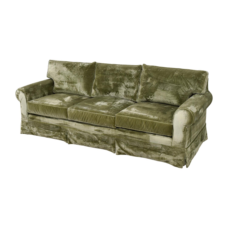 81% OFF - Green Velvet Sofa / Sofas