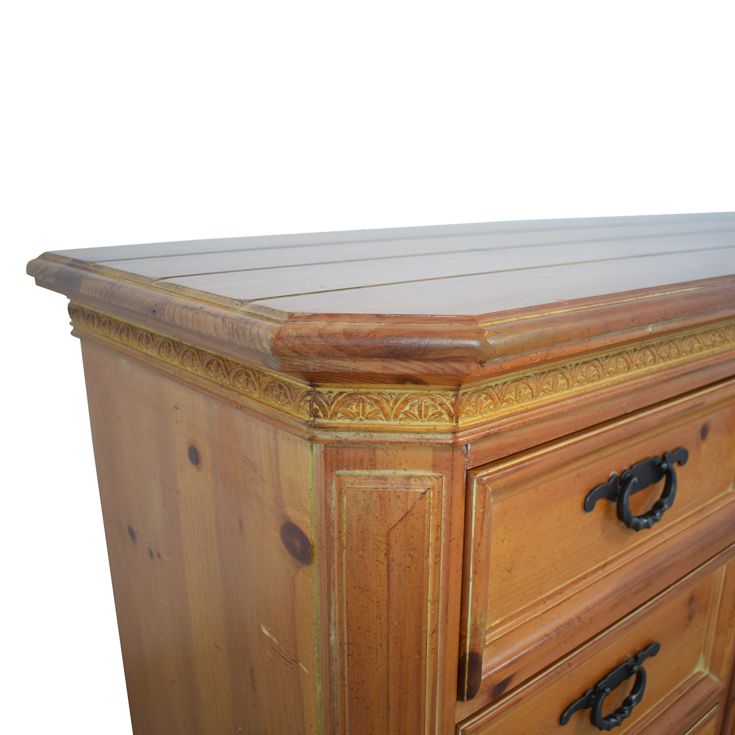 buy Thomasville Wood Dresser with Middle Cabinet Thomasville
