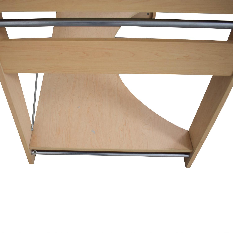 Crate & Barrel Crate & Barrel Glass Top Desk for sale