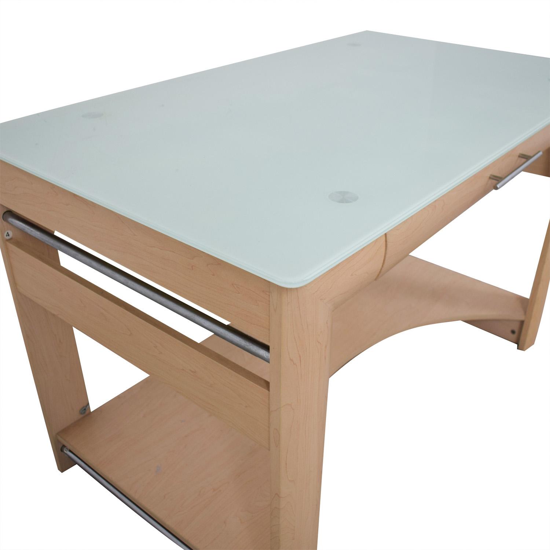Crate & Barrel Crate & Barrel Glass Top Desk coupon