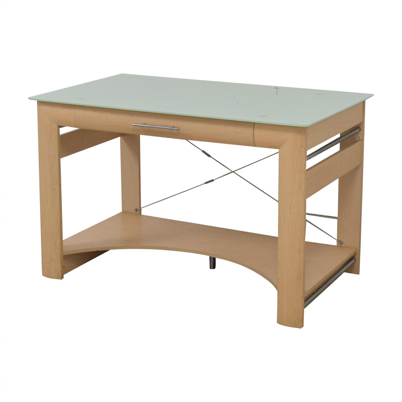 Crate & Barrel Crate & Barrel Glass Top Desk
