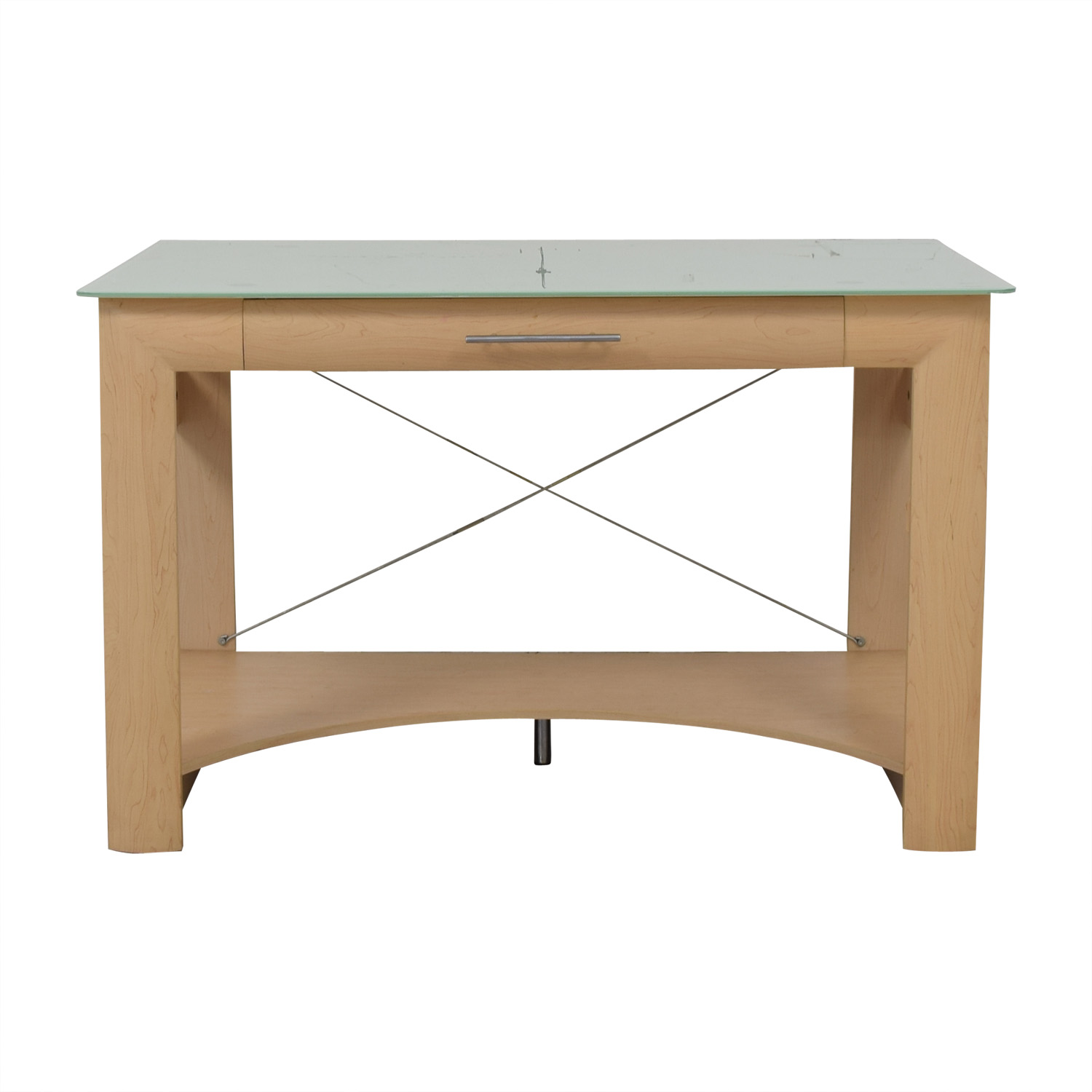 Crate & Barrel Glass Top Desk / Home Office Desks