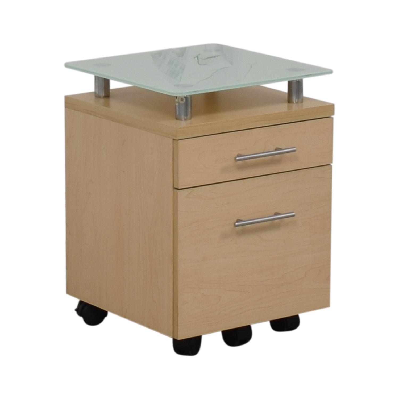 buy Crate & Barrel Crate & Barrel Glass Top File Cabinet online