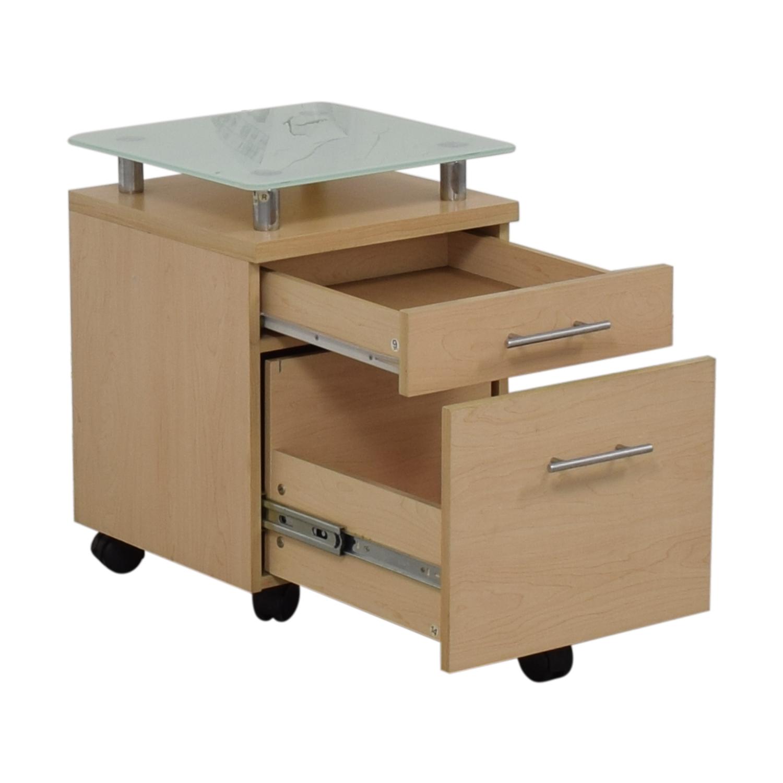 Crate & Barrel Crate & Barrel Glass Top File Cabinet Storage