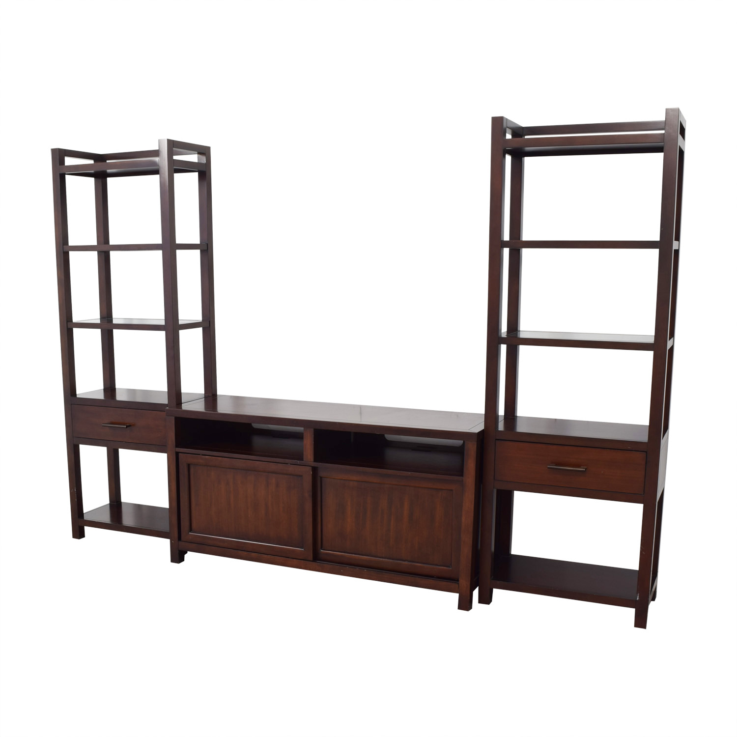Crate & Barrel Crate & Barrel Media Console with Two Media Towers Media Units
