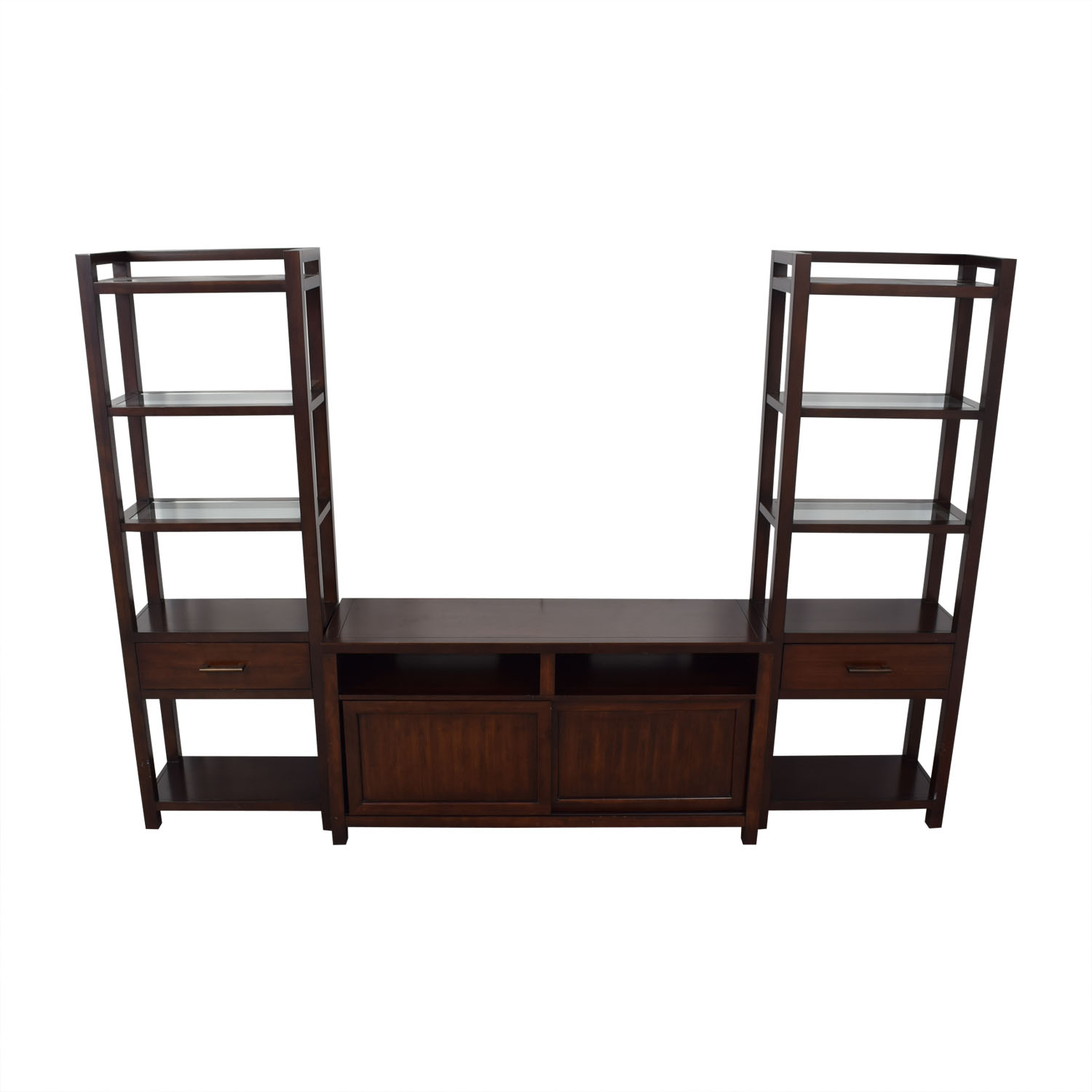 shop Crate & Barrel Media Console with Two Media Towers Crate & Barrel Media Units