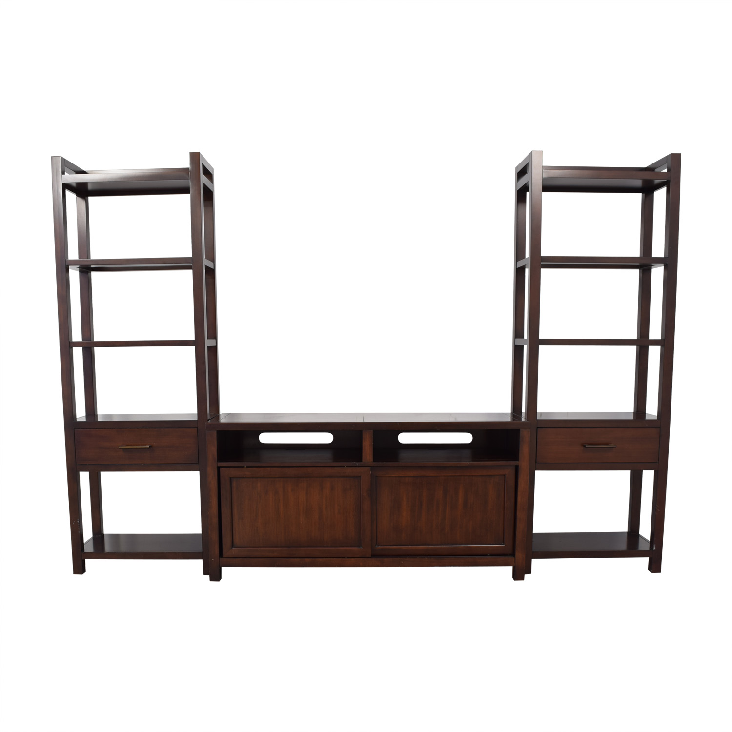Crate & Barrel Crate & Barrel Media Console with Two Media Towers second hand