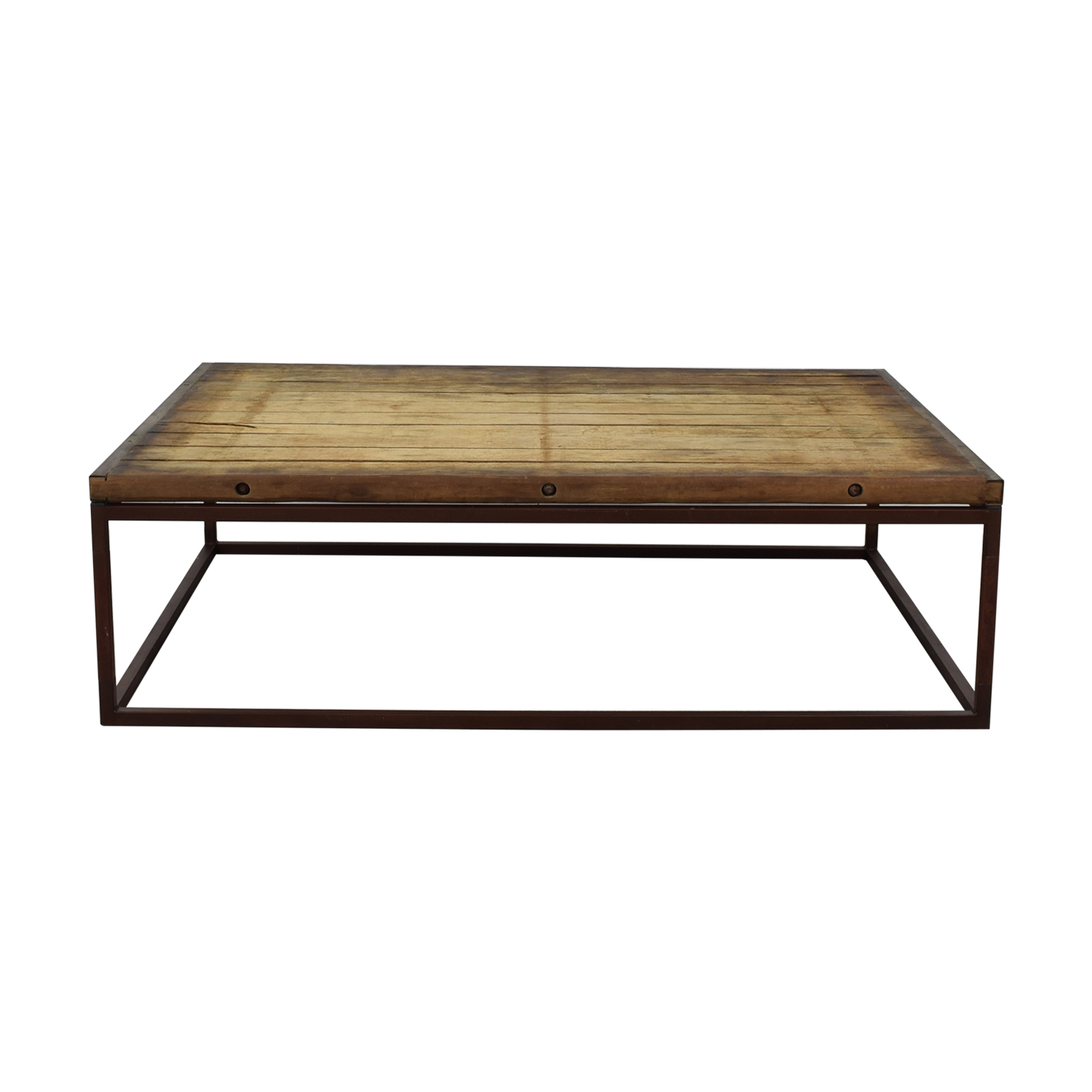 Restoration Hardware Restoration Hardware Bricklayer's Coffee Table discount
