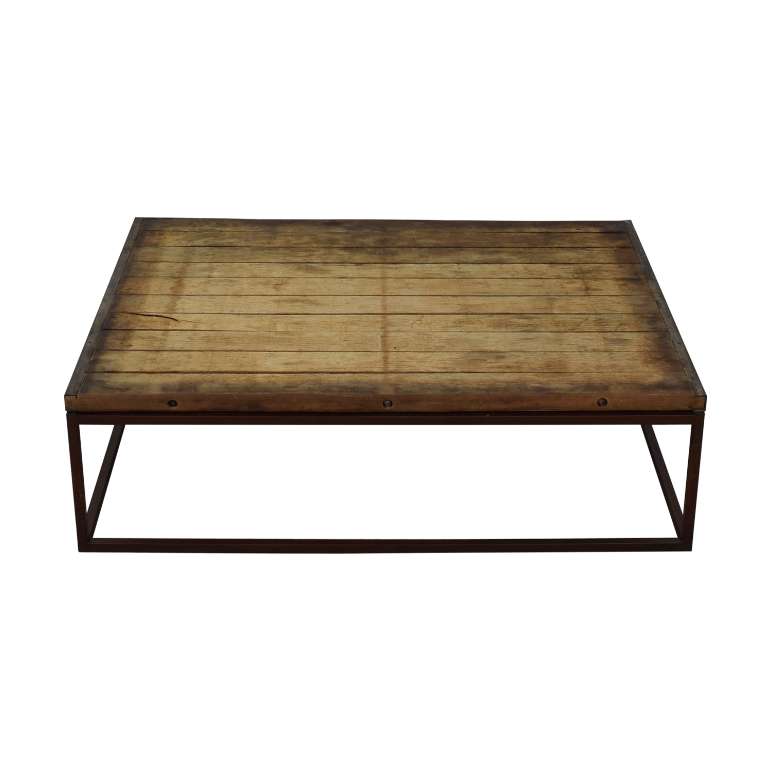 Restoration Hardware Restoration Hardware Bricklayer's Coffee Table on sale