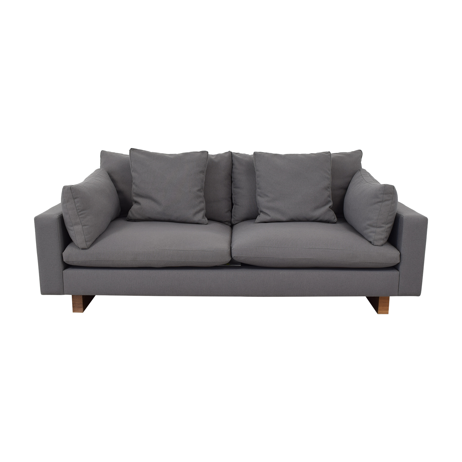"shop West Elm West Elm Harmony 82"" Sofa Evo Weave Pewter online"