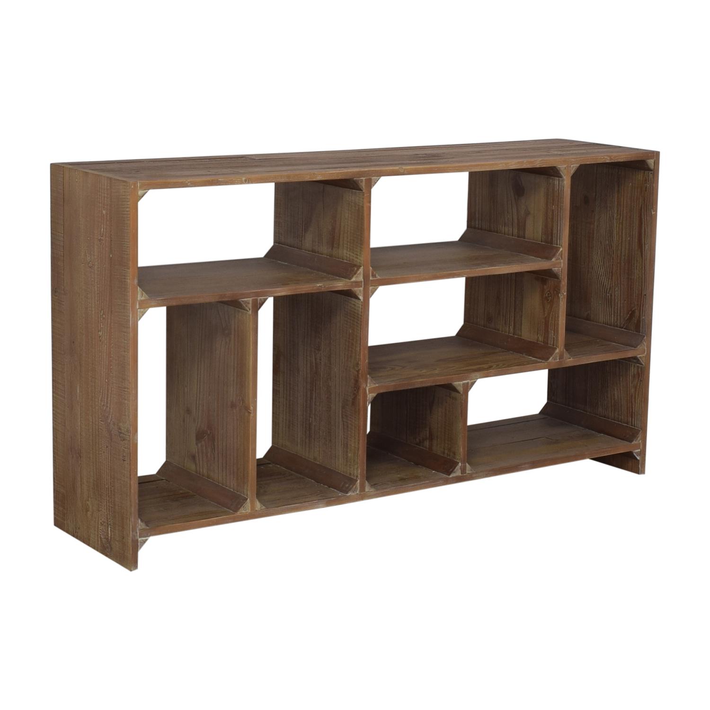 Restoration Hardware Restoration Hardware Reclaimed Pine Low Bookcase