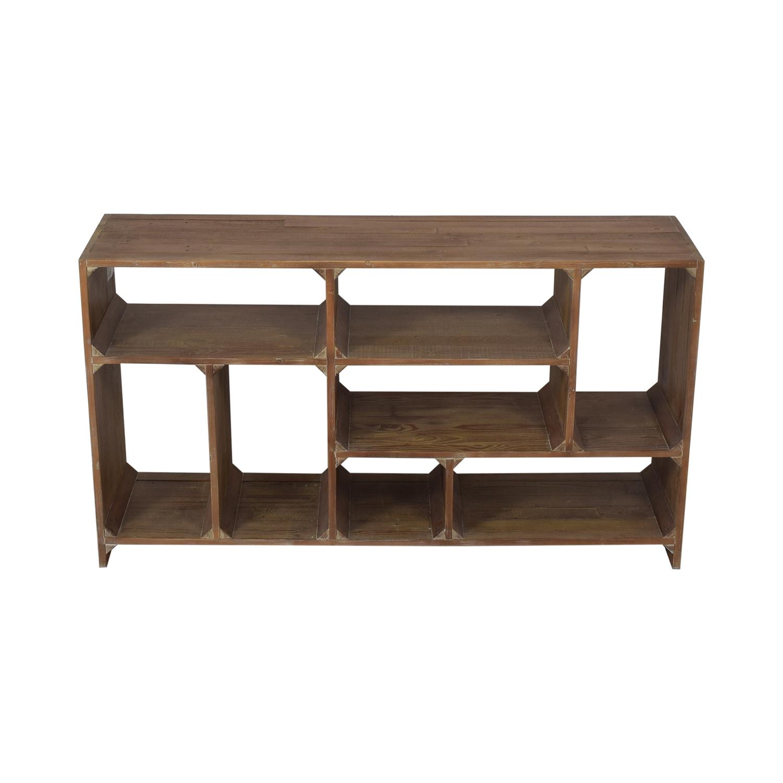 buy Restoration Hardware Reclaimed Pine Low Bookcase Restoration Hardware Bookcases & Shelving
