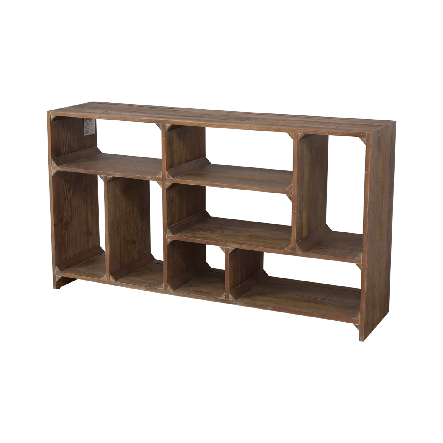 Restoration Hardware Restoration Hardware Reclaimed Pine Low Bookcase on sale