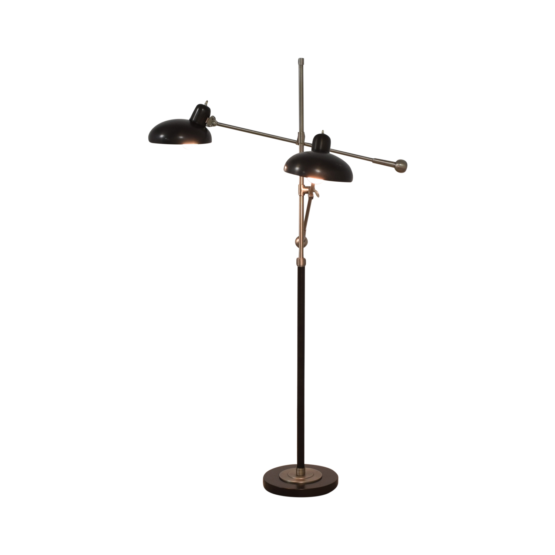 53 Off Rejuvenation Rejuvenation Bruno Double Arm Floor Lamp Decor