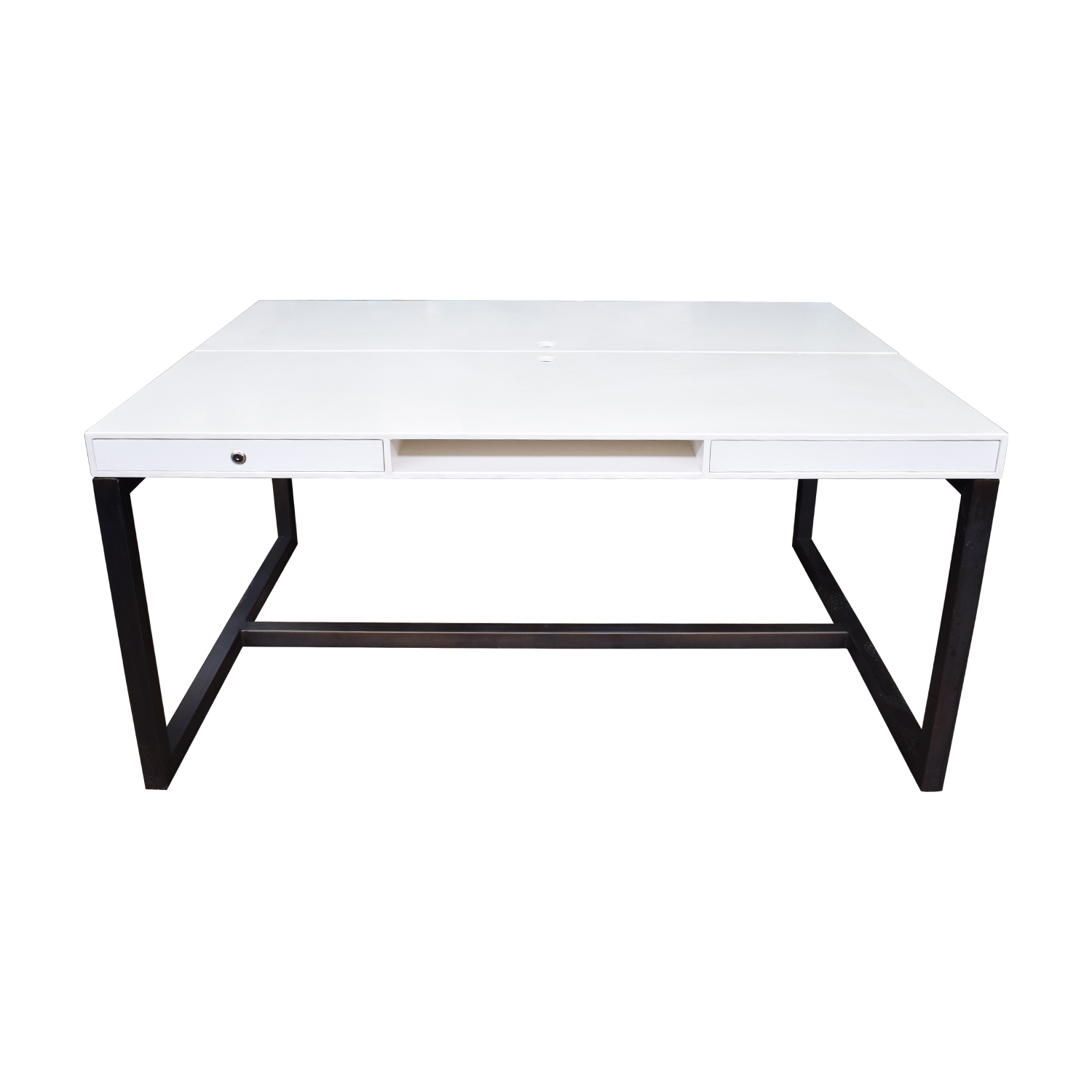 Custom Double Corian and Steel Desk price