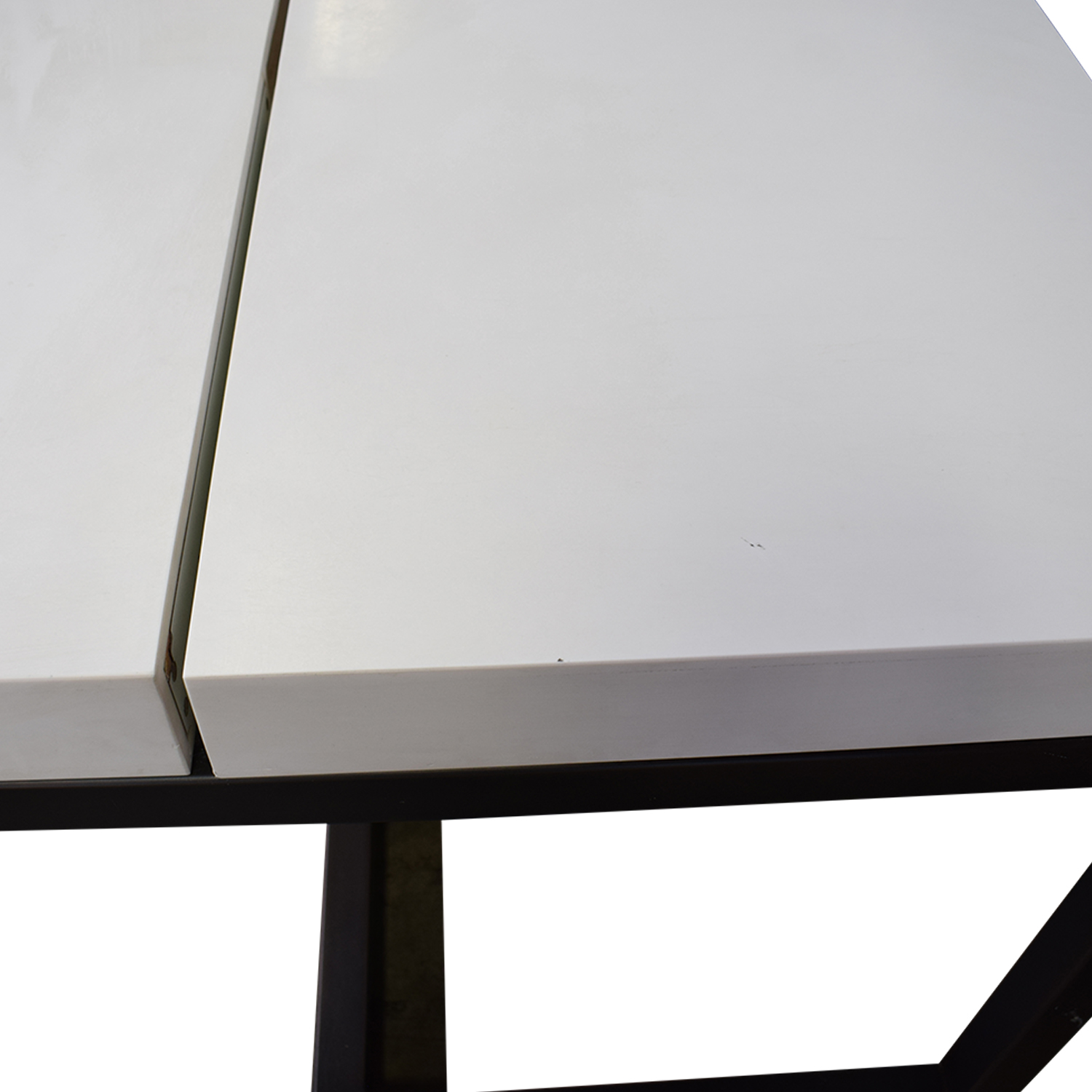 Custom Double Corian and Steel Desk for sale
