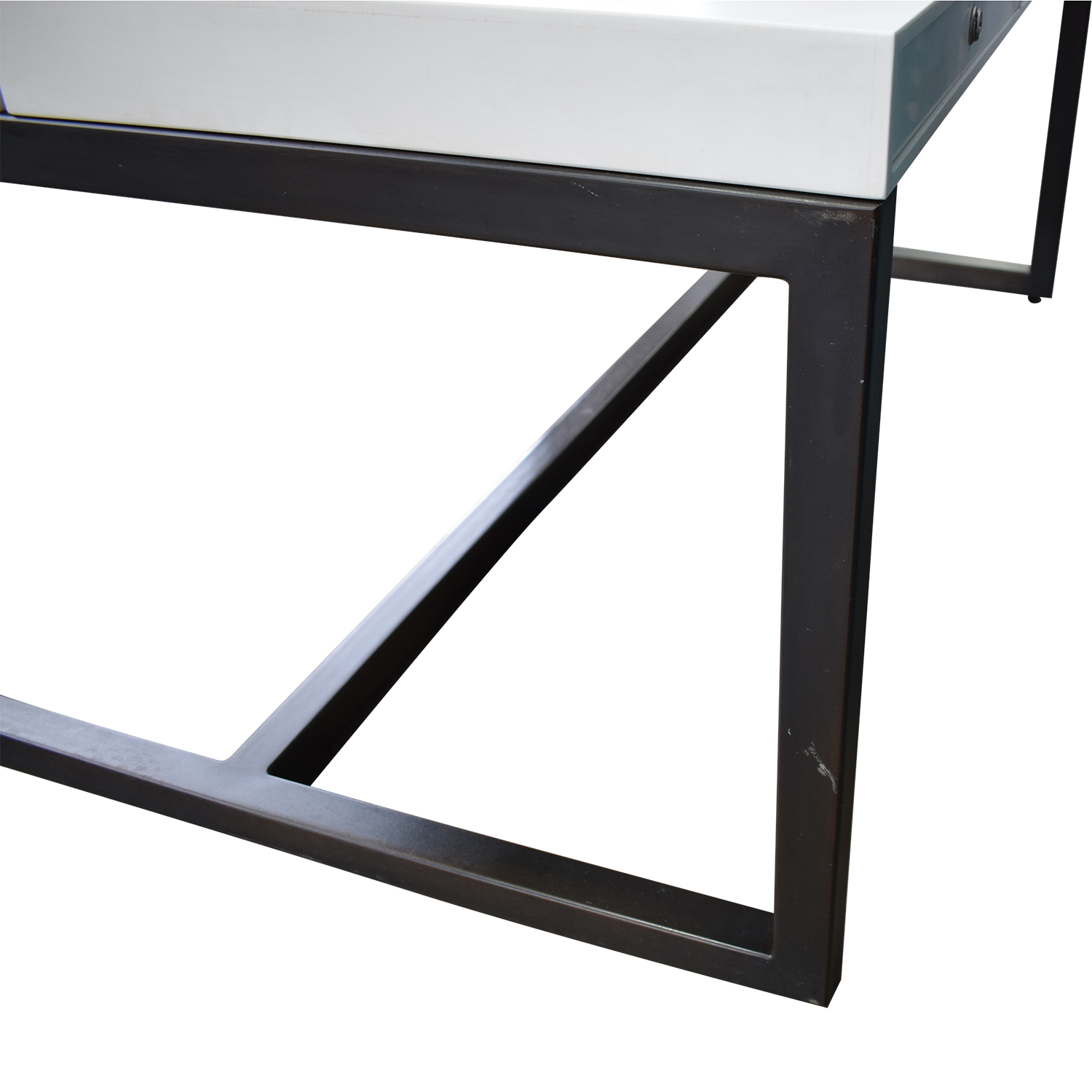 buy Custom Double Corian and Steel Desk