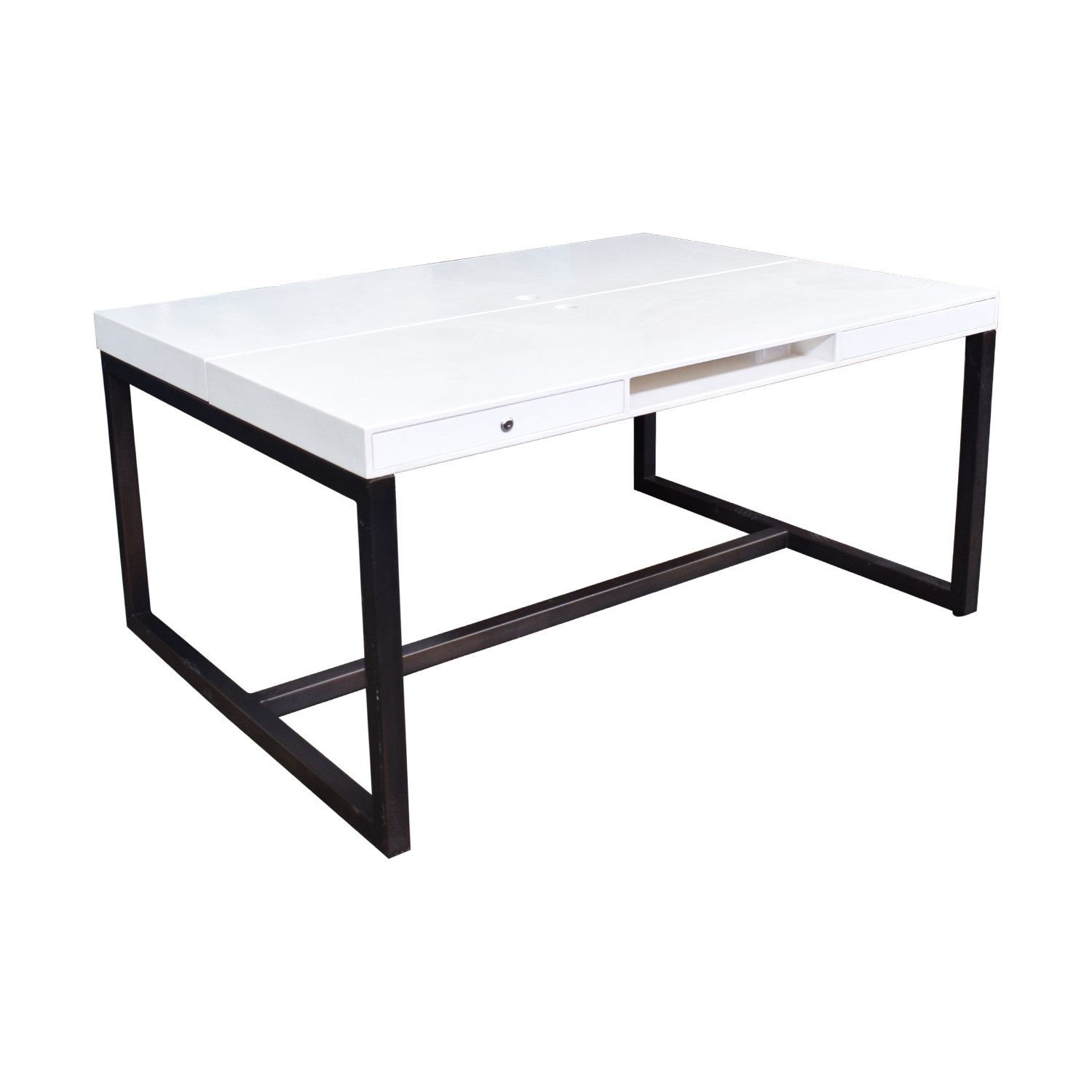 buy Custom Double Corian and Steel Desk  Tables
