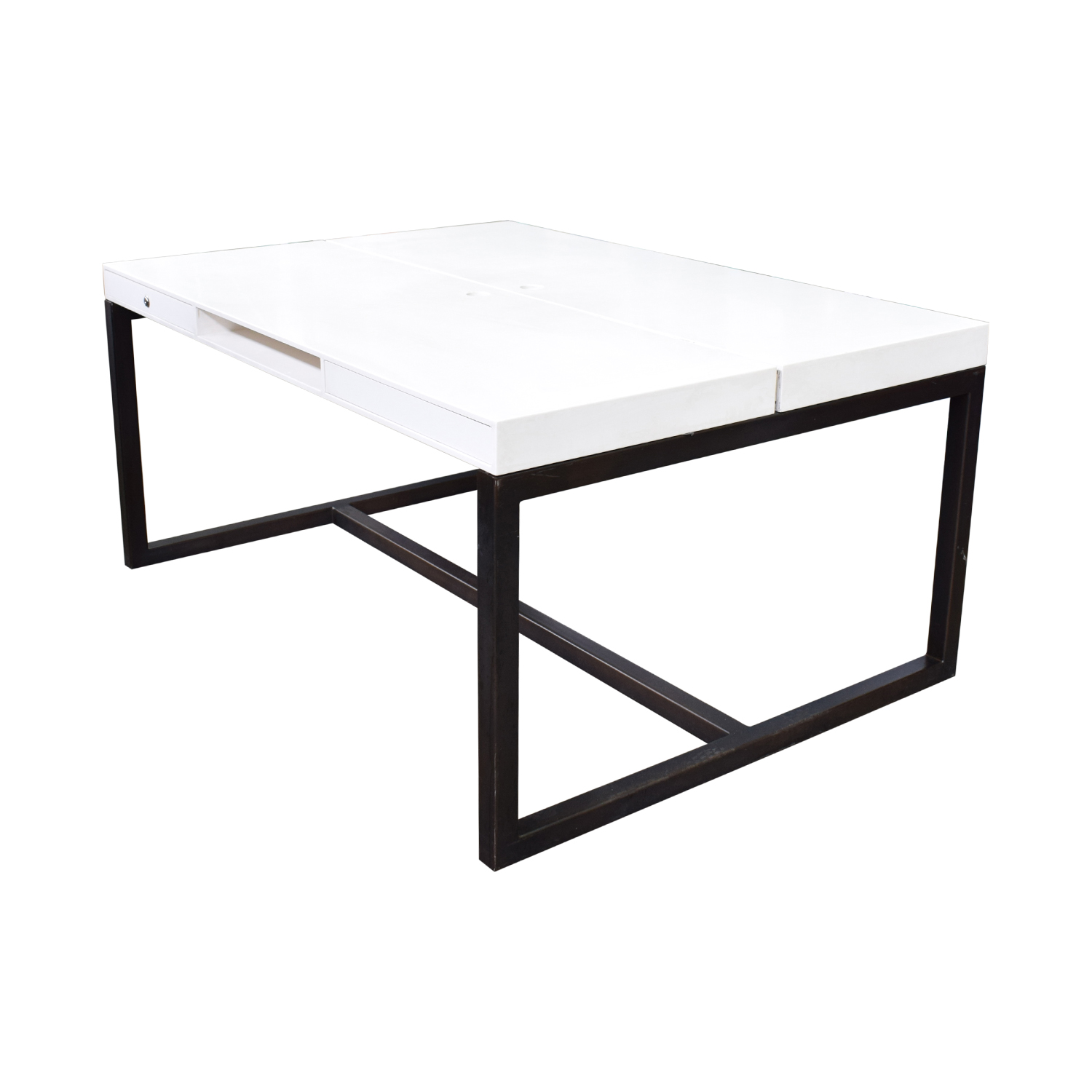 shop Custom Double Corian and Steel Desk  Utility Tables