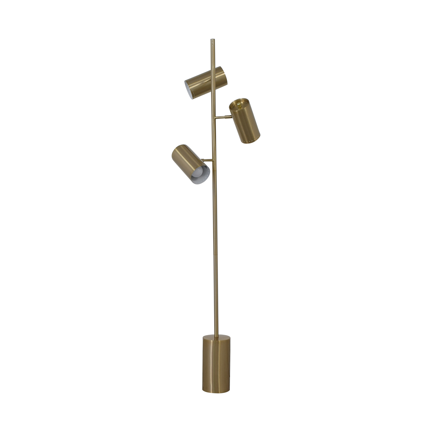 CB2 CB2 Trio Brushed Nickel Floor Lamp nyc