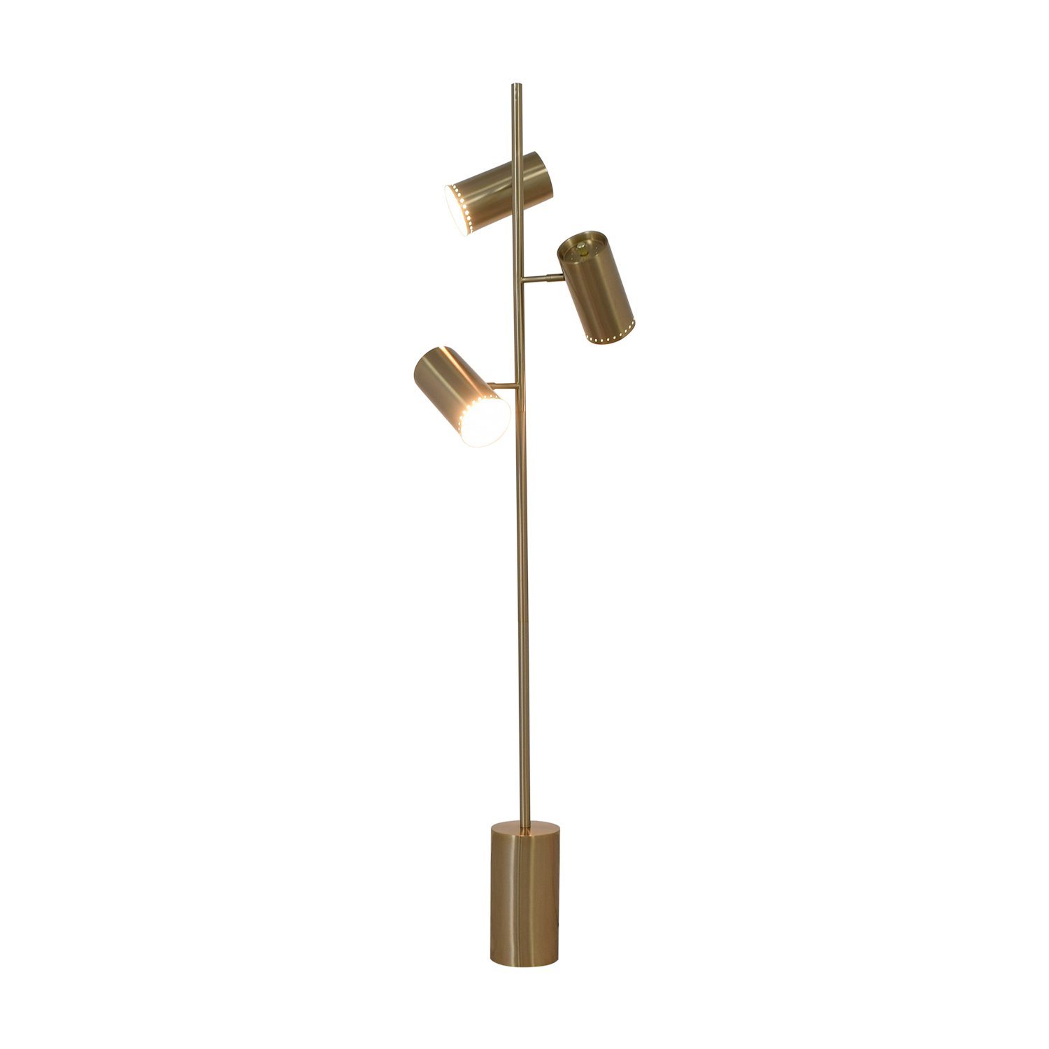 buy CB2 Trio Brushed Nickel Floor Lamp CB2 Lamps