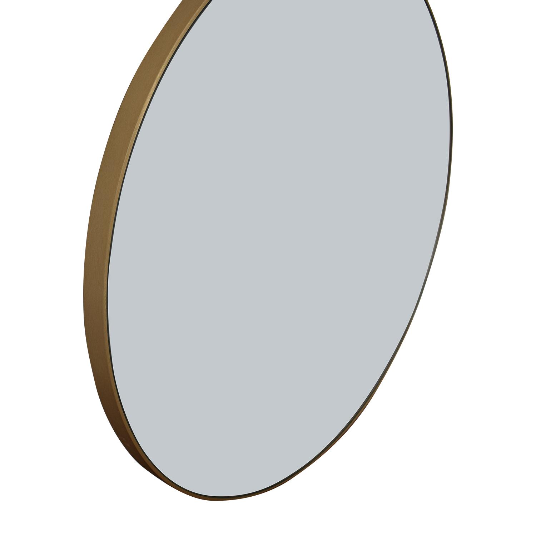 CB2 CB2 Infinity Round Brass Mirror used