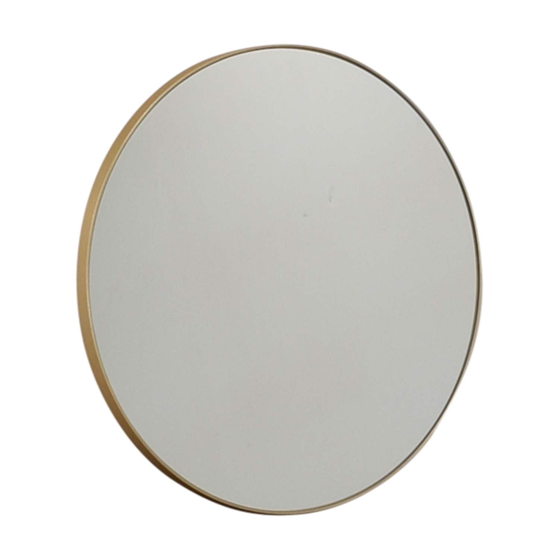 shop CB2 CB2 Infinity Round Brass Mirror online