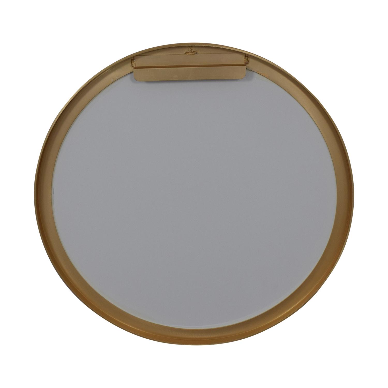 CB2 CB2 Infinity Round Brass Mirror discount