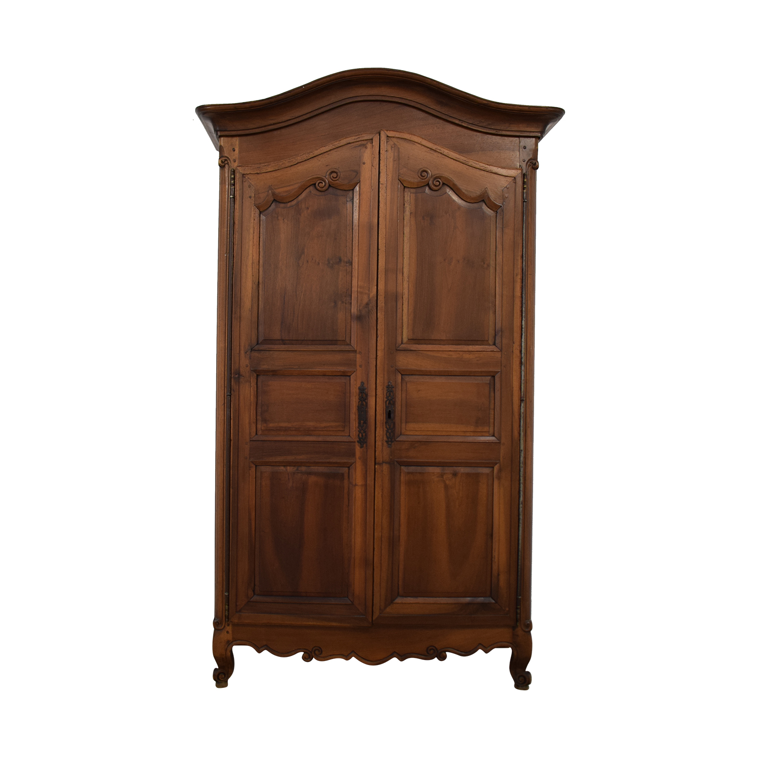 French Louis XV-Style Walnut Armoire Wardrobes & Armoires