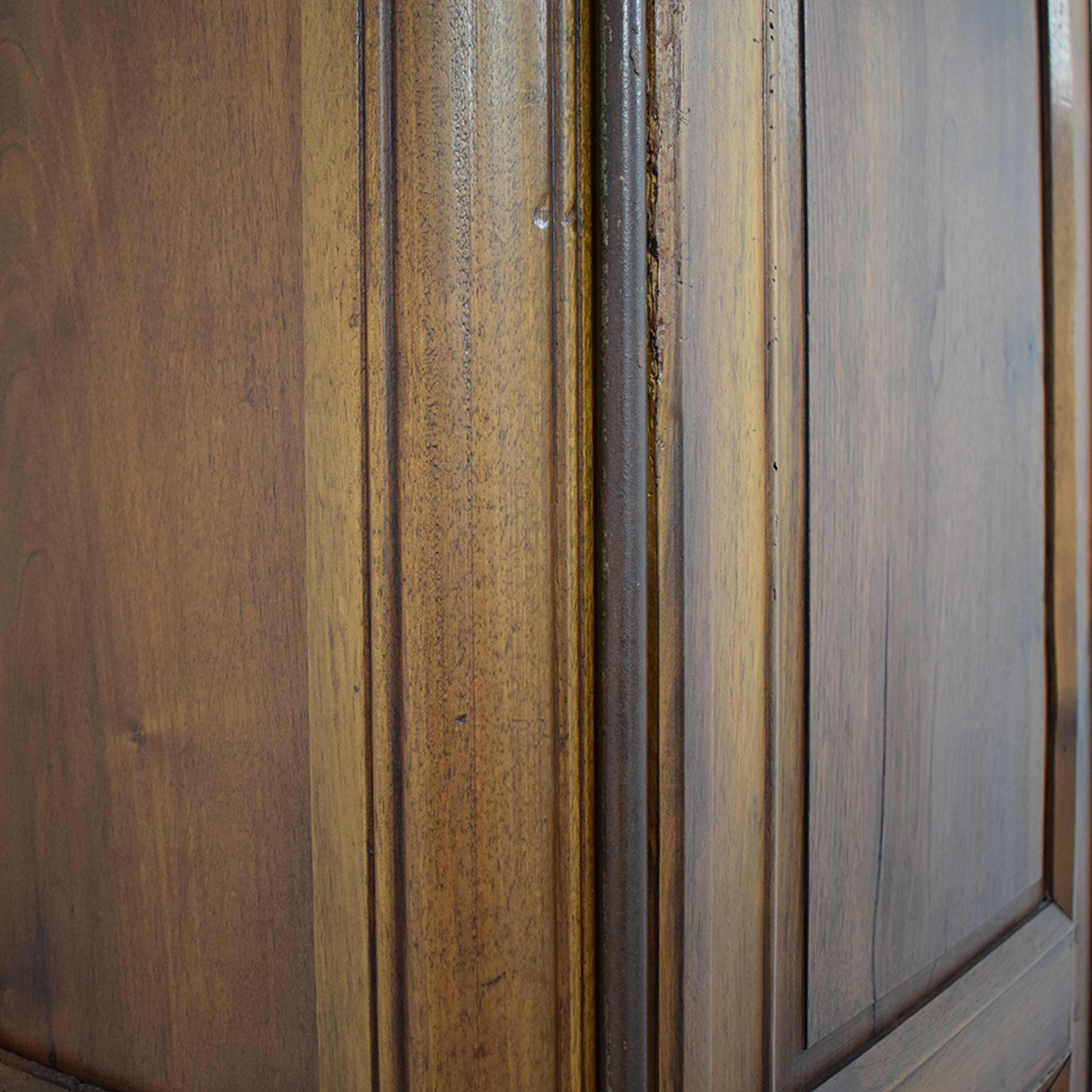French Louis XV-Style Walnut Armoire discount