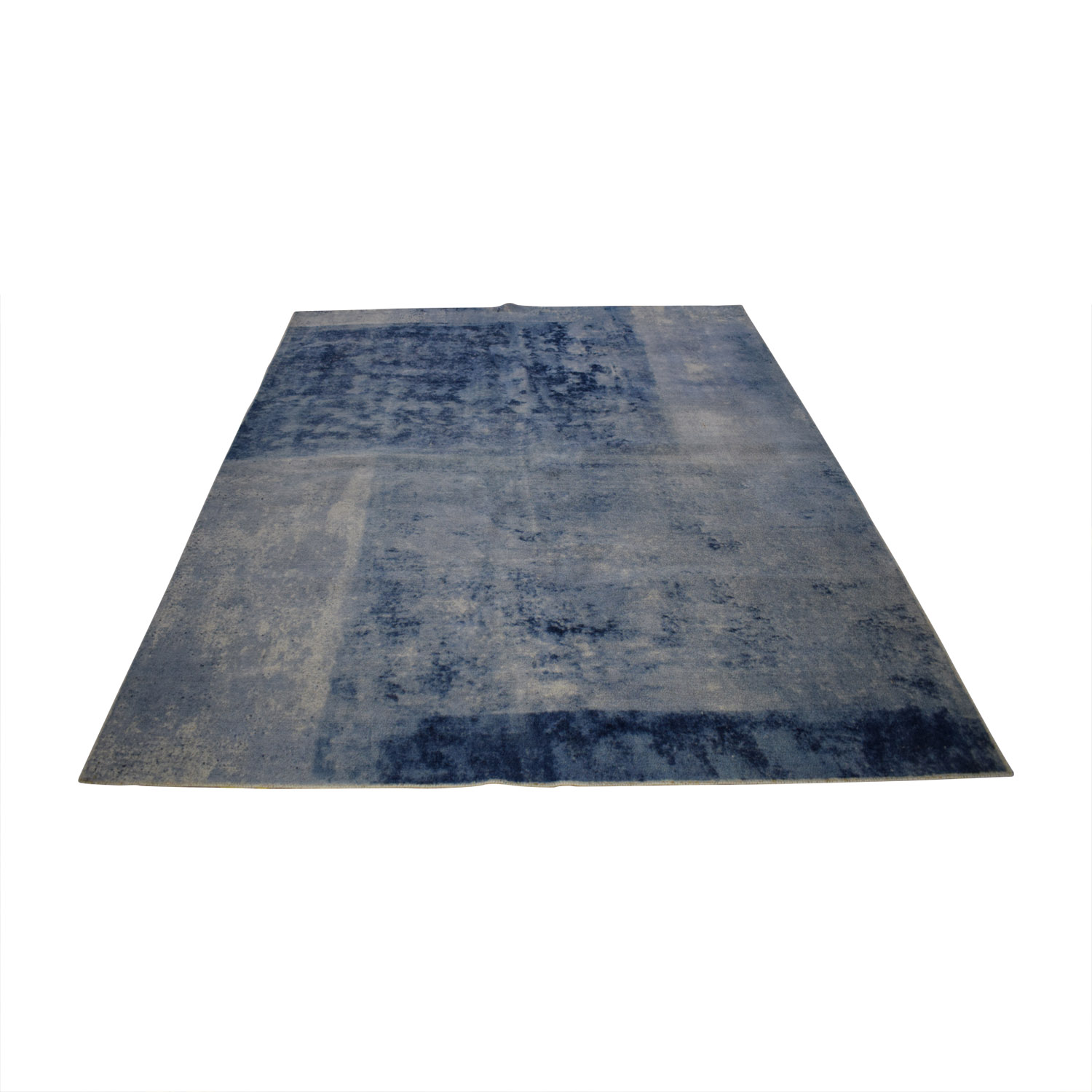 shop West Elm 8 X 10 Distressed Rococo Blue Lagoon Rug West Elm