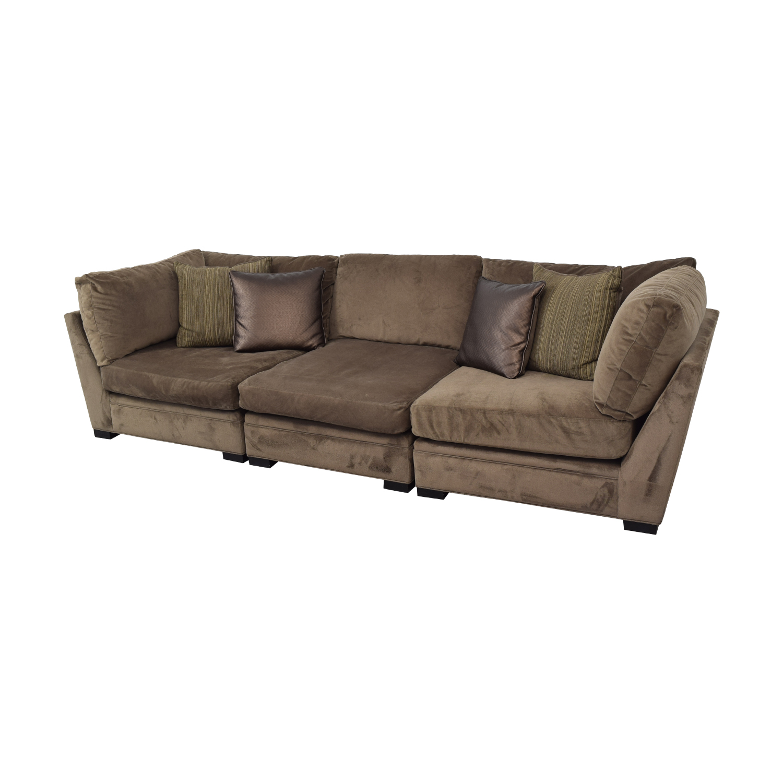 shop Raymour & Flanigan Raymour & Flanigan Cindy Crawford Home Microfiber Sofa online