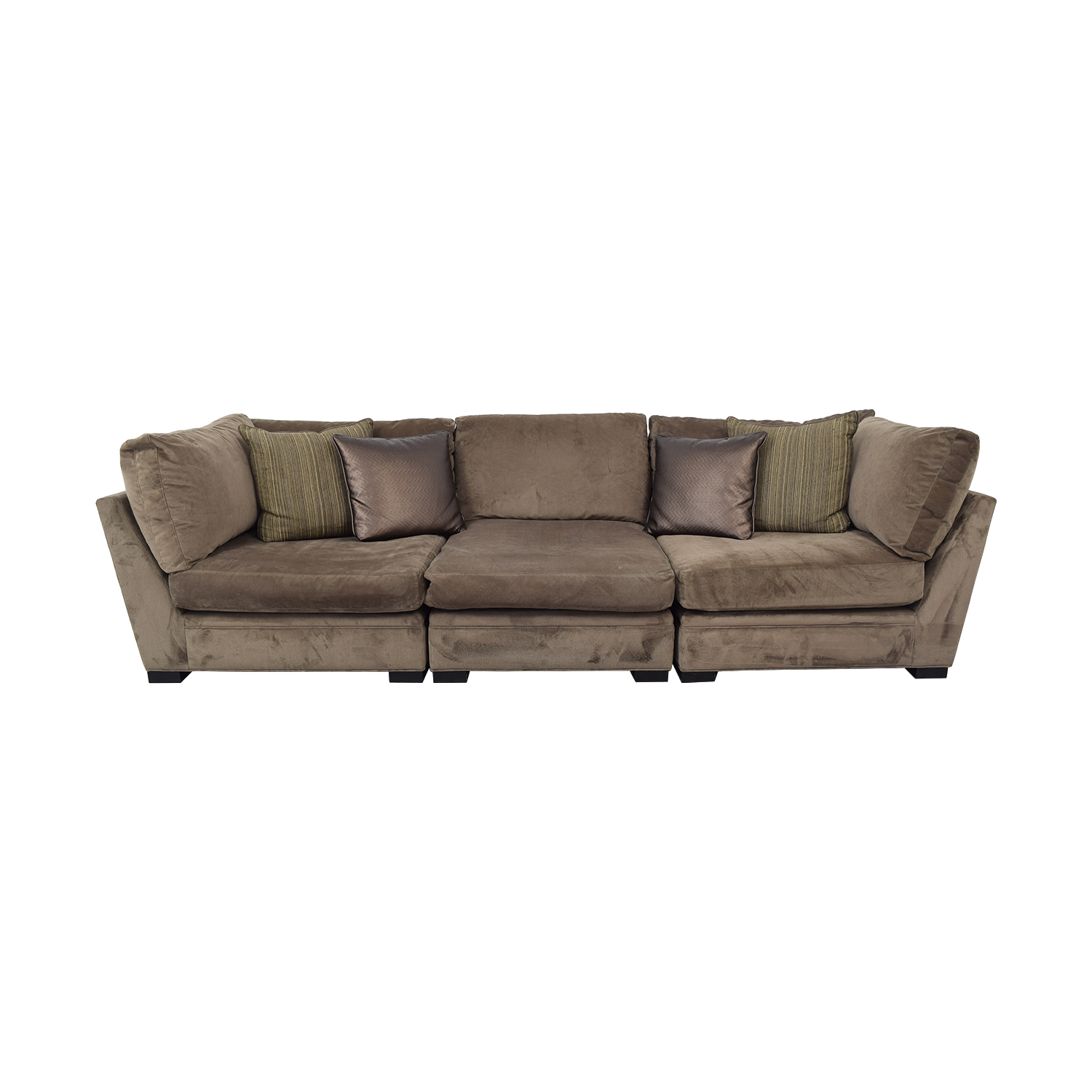 Raymour & Flanigan Raymour & Flanigan Cindy Crawford Home Microfiber Sofa ma