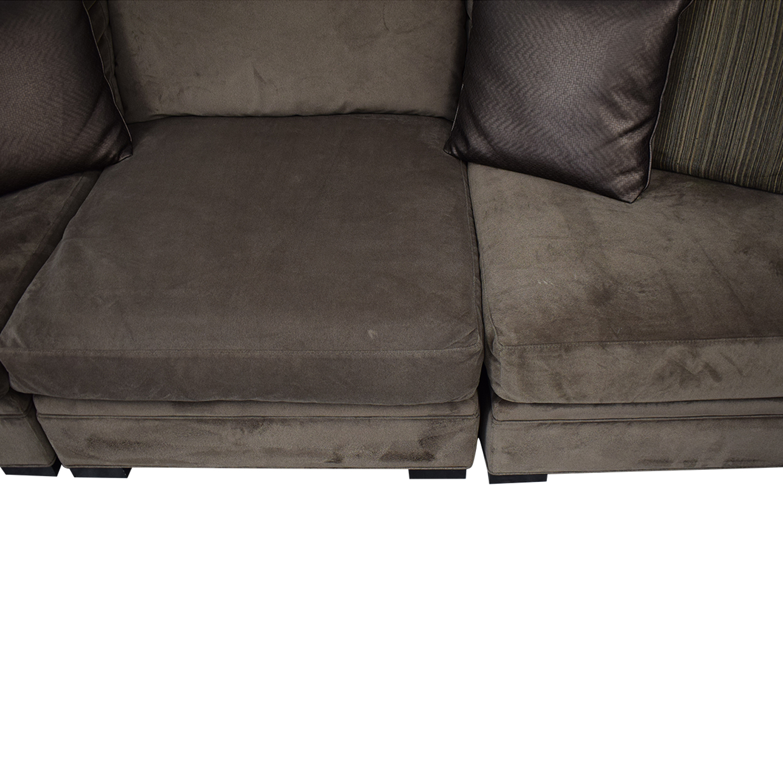 buy Raymour & Flanigan Cindy Crawford Home Microfiber Sofa Raymour & Flanigan