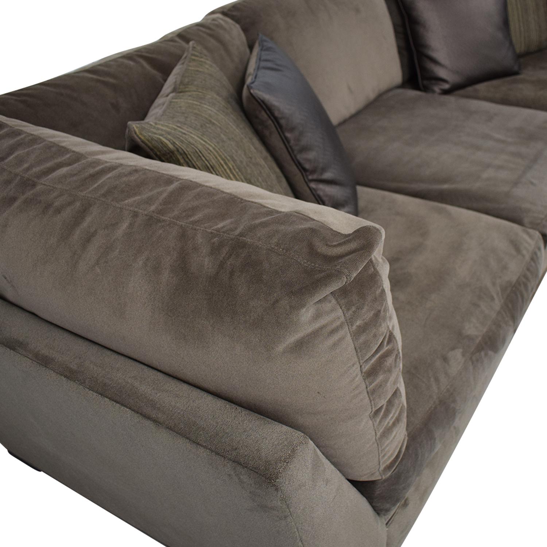 Raymour & Flanigan Raymour & Flanigan Cindy Crawford Home Microfiber Sofa on sale