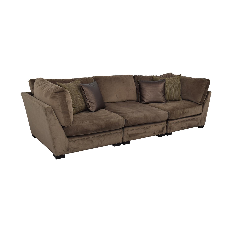 buy Raymour & Flanigan Raymour & Flanigan Cindy Crawford Home Microfiber Sofa online