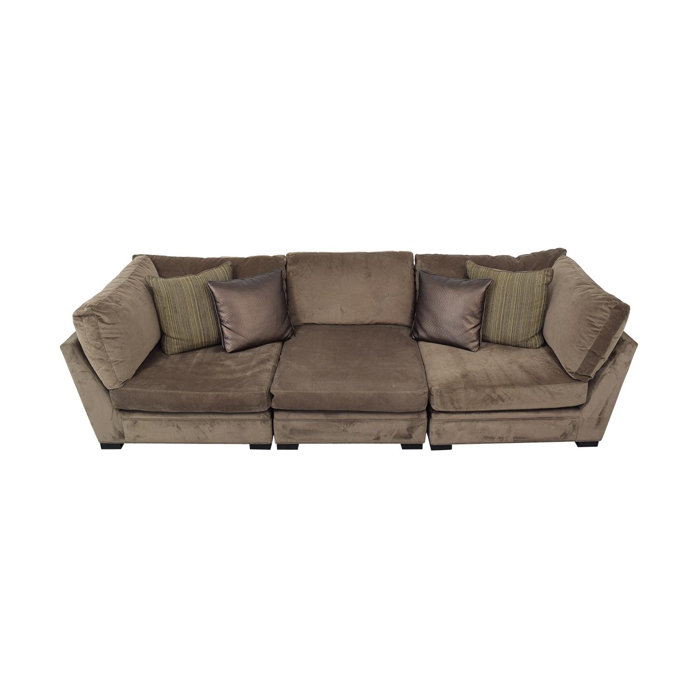 shop Raymour & Flanigan Cindy Crawford Home Microfiber Sofa Raymour & Flanigan Sofas