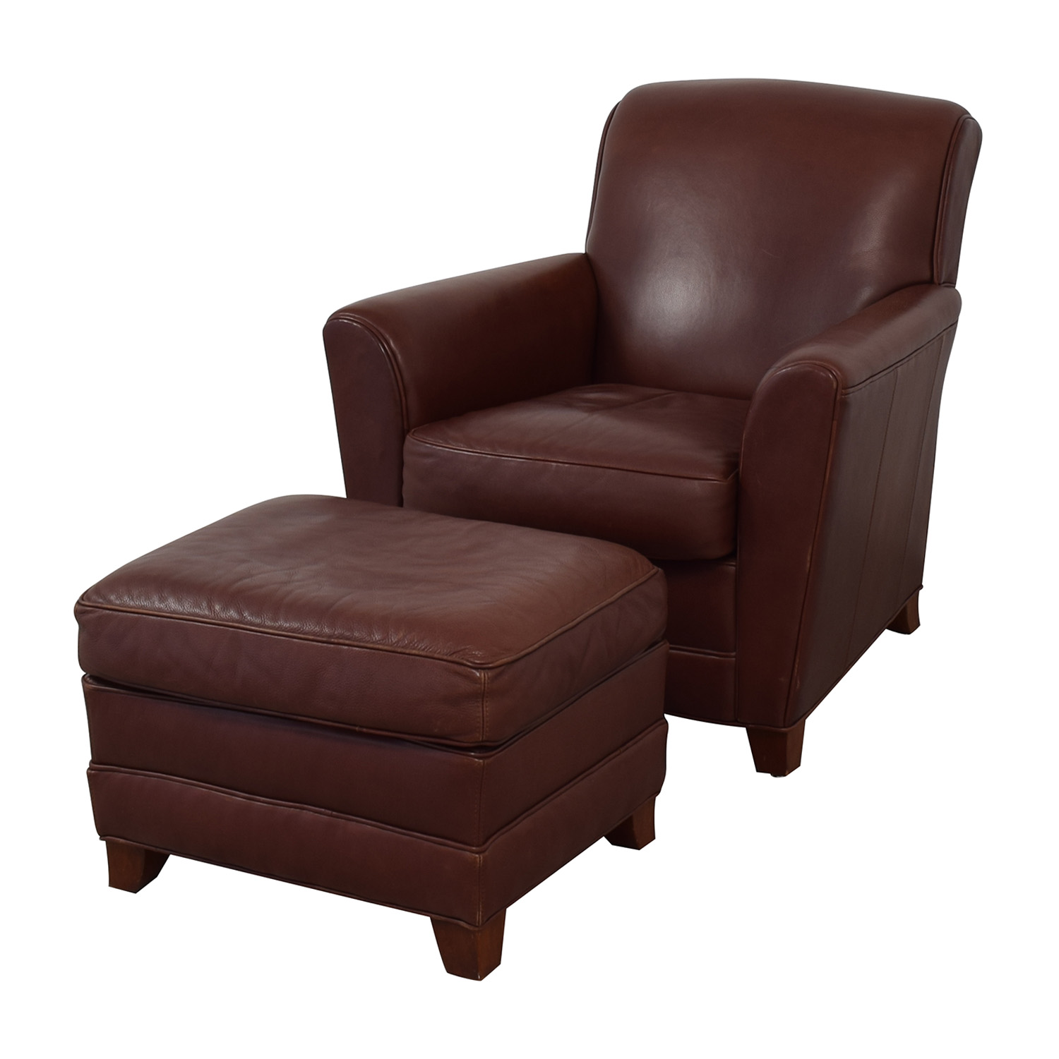 Miraculous 76 Off Stickley Furniture Stickley Furniture Leather Club Chair And Ottoman Chairs Alphanode Cool Chair Designs And Ideas Alphanodeonline