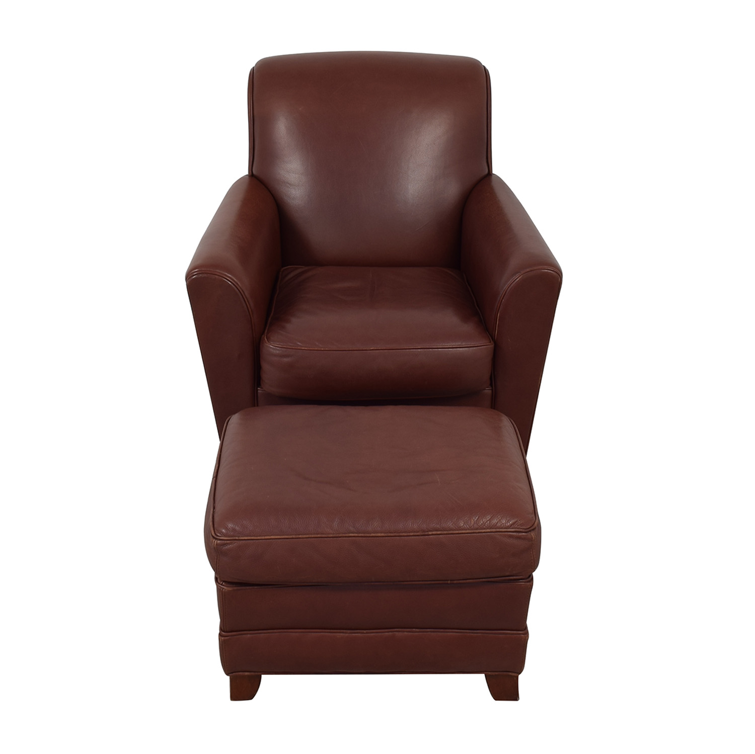 buy Stickley Furniture Leather Club Chair and Ottoman Stickley Furniture Chairs