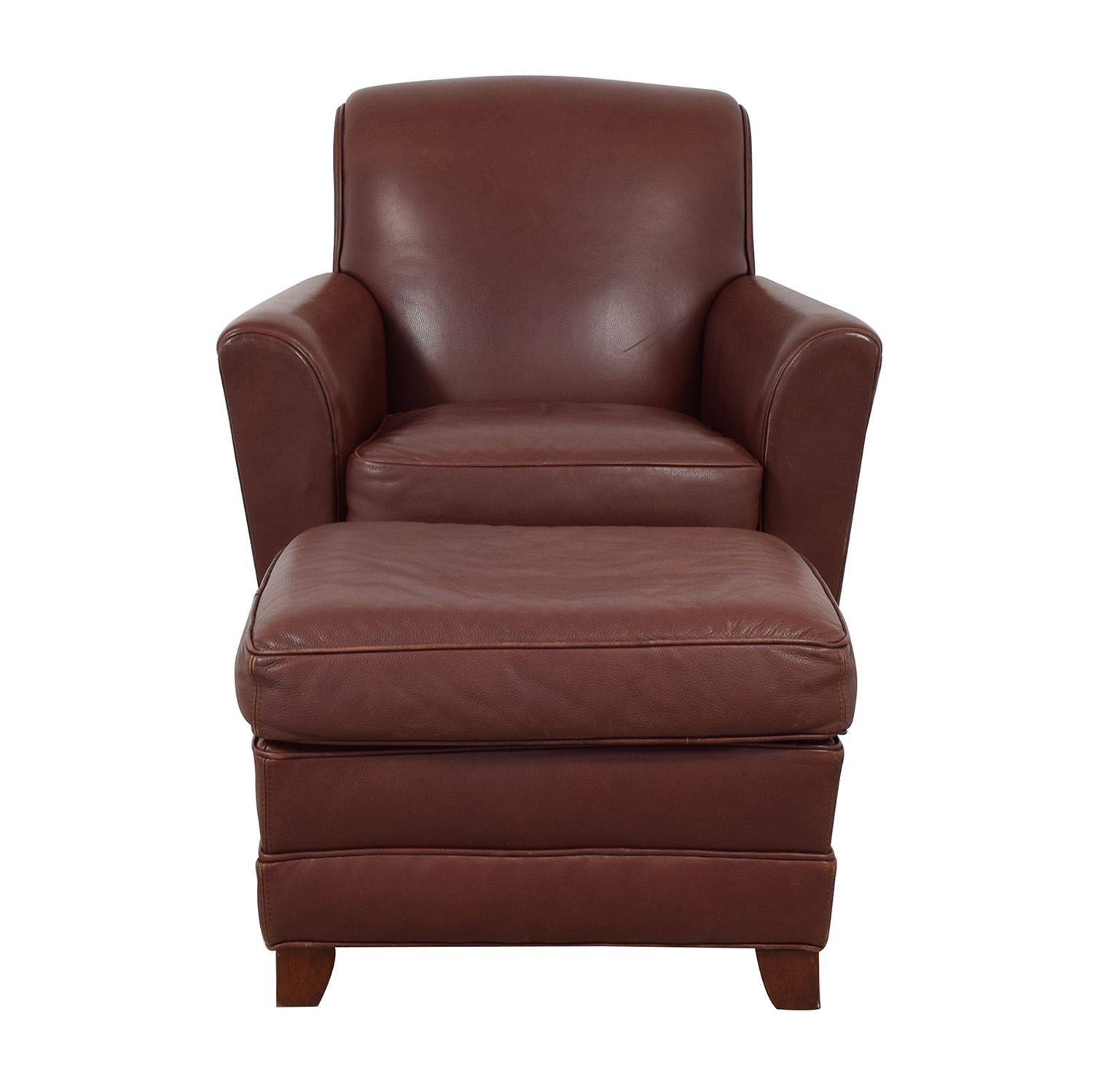 Stickley Furniture Leather Club Chair And Ottoman Price